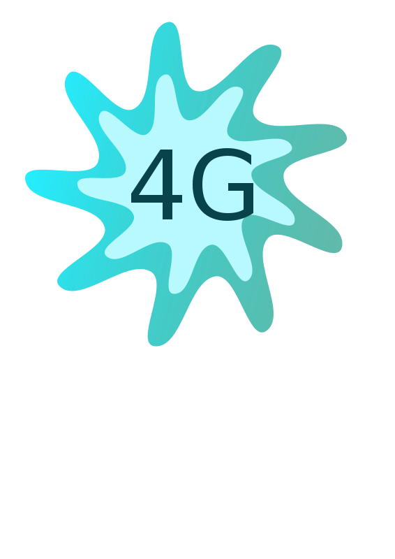 Free Clipart: 4G Button.
