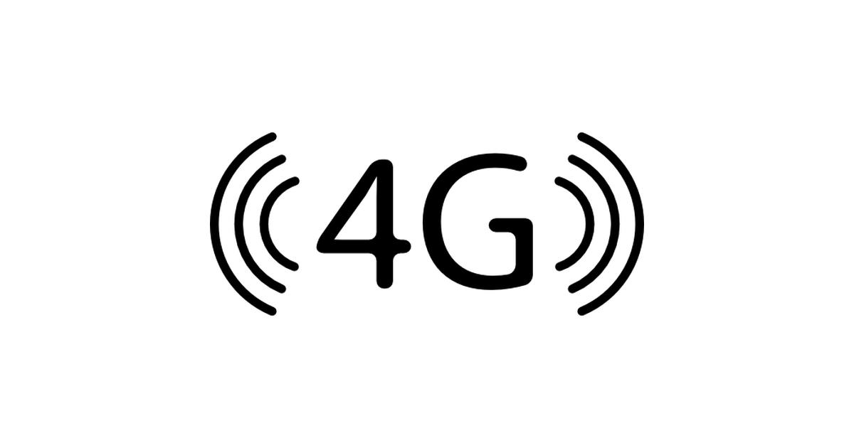 4G technology symbol.
