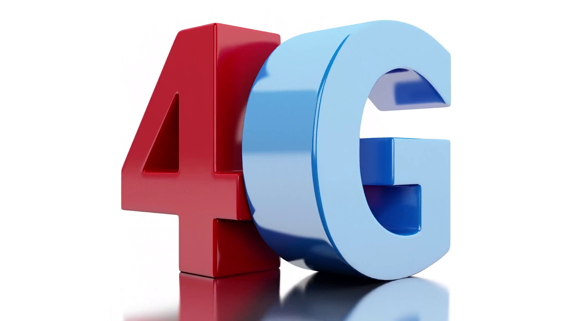 4G icon. Wireless communication technology. 4K resolution Motion Background.