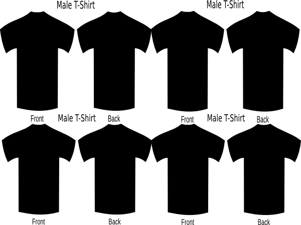 Black T Shirts X Four Clip Art at Clker.com.