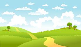 Beautiful Cloudy Blue Sky Road Way 4k Stock Illustrations.