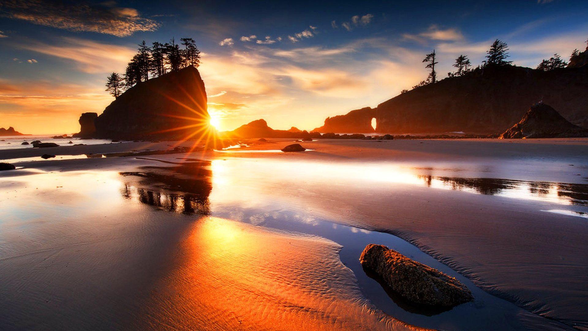 Beach: Stones Hills Sunrise Sunlight Nature Summer Sea Isle Rocks.
