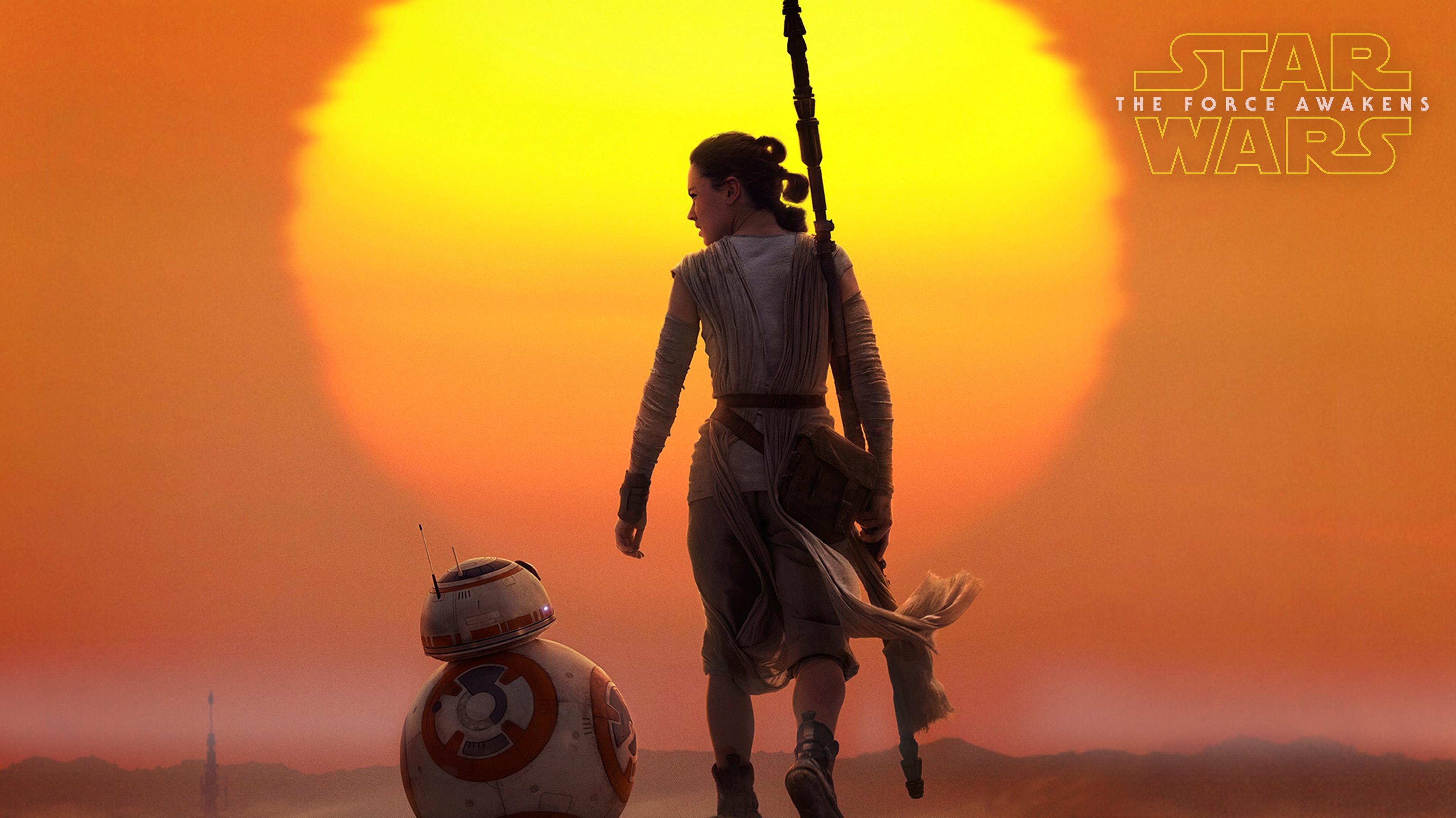 Star Wars The Force Awakens 4K Wallpaper.