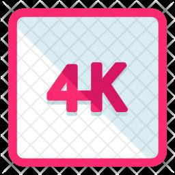 4K Icon.