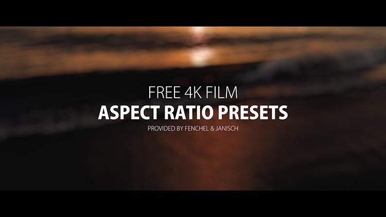 Free 4K film aspect ratio presets.