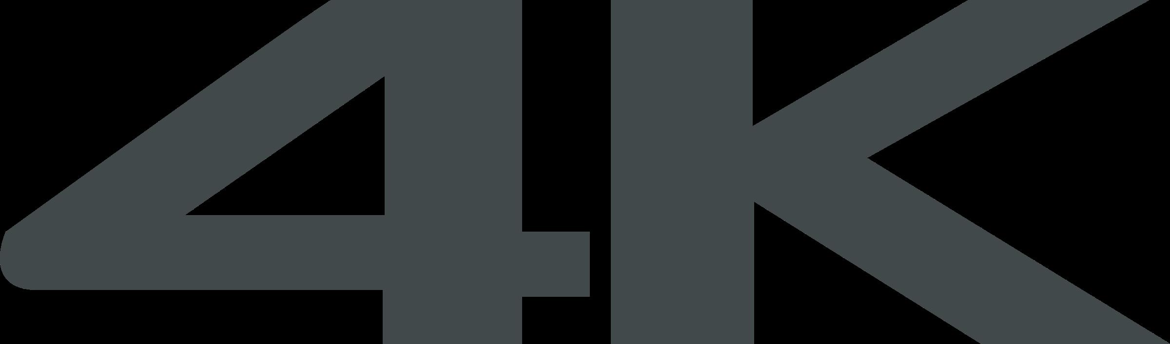 4k Logo PNG Transparent & SVG Vector.