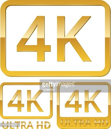 Ultra HD 4K icon Clipart Image.