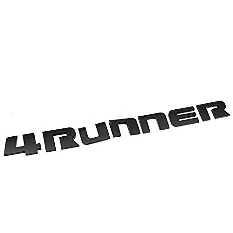 New Black 4RUNNER 3D Emblem Nameplate for 2010.