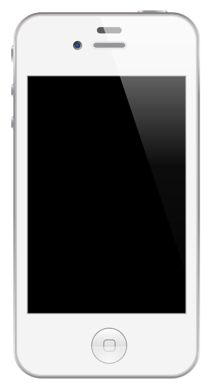 Free Clipart: IPhone 4/4S White.