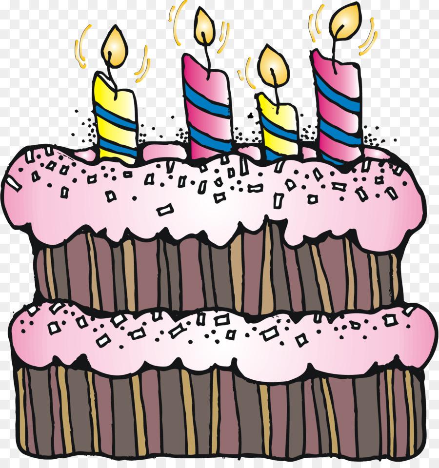 Pink Birthday Cake clipart.