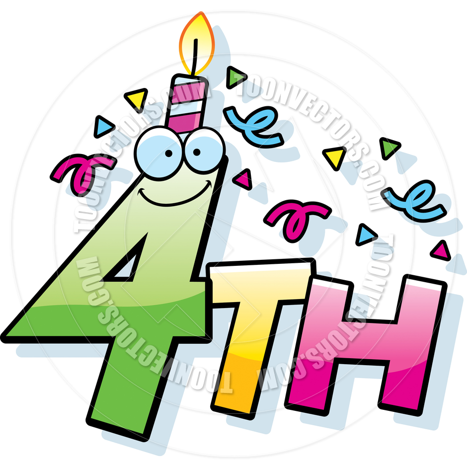 4th birthday clipart 3 » Clipart Station.