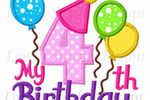4th birthday clipart » Clipart Station.