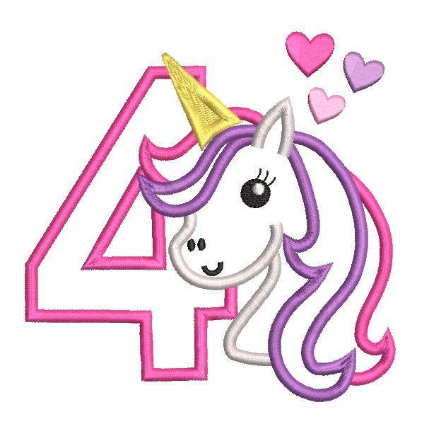 4th Birthday Unicorn (SA510.
