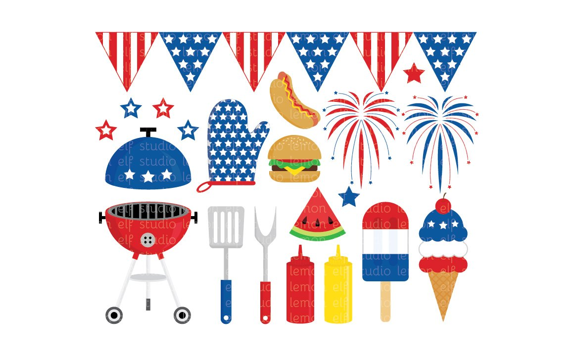 4th of July Bbq Clipart (LES.CL40).
