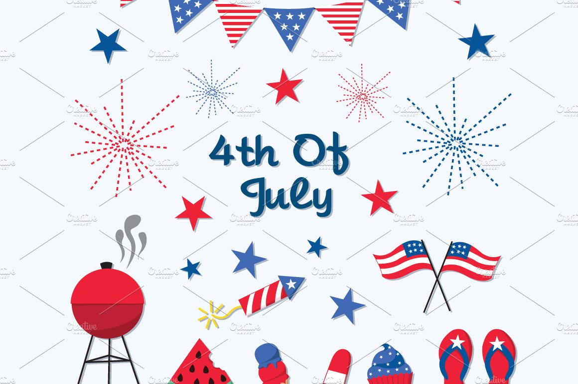 4th of July Independence Day Clipart.