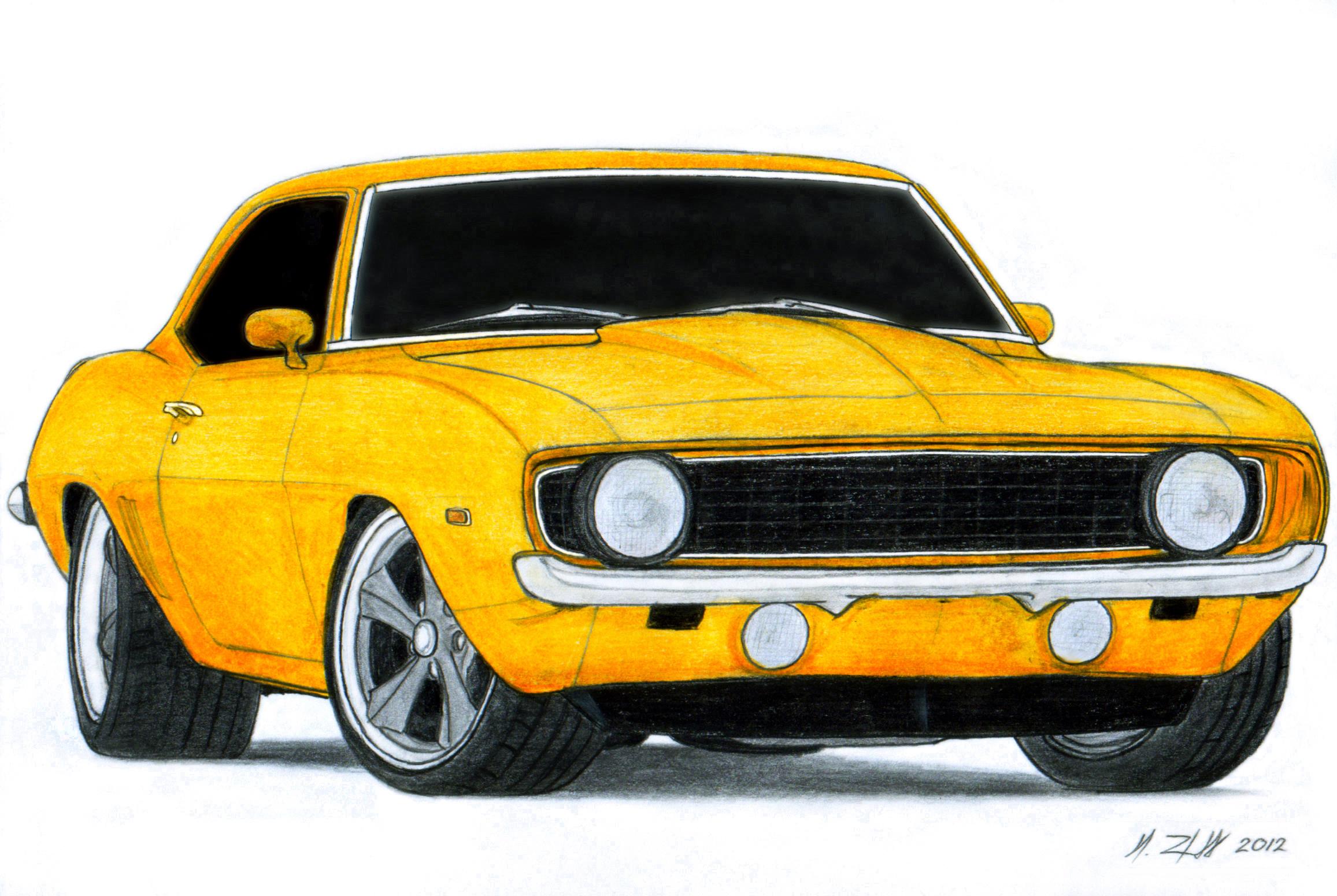 Chevrolet Camaro Drawing at GetDrawings.com.