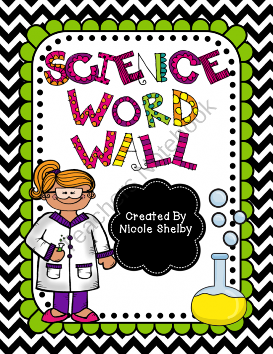 Science Vocabulary Word Wall product from Mrs.