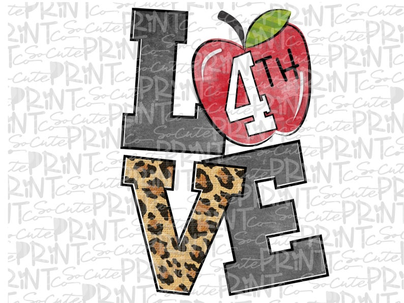 Back to school, 4th grade clipart, transparent PNG file for sublimation,  first day of school, apple printable, fourth grade printable.