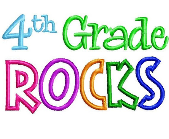 4th Grade Rocks Clipart.