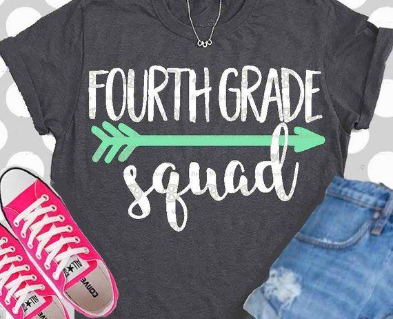 4th grade svg, Teacher svg, 4th grade, fourth, svg, shirt.