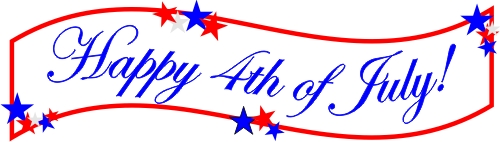Fourth of july banner clipart 6 » Clipart Station.
