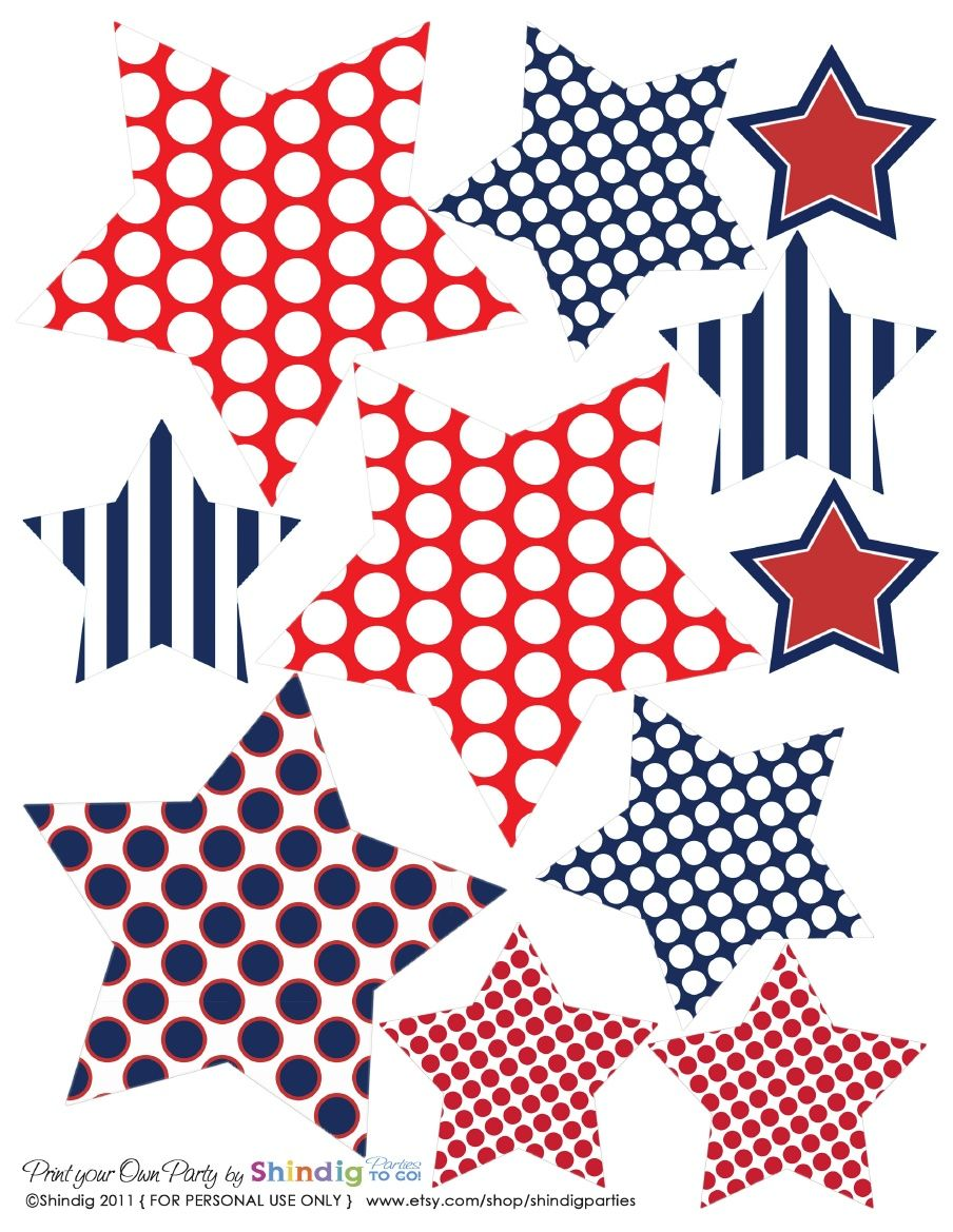 4th of July Printables :.