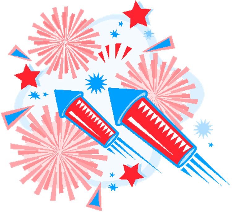 Firework clipart 4th july, Firework 4th july Transparent.