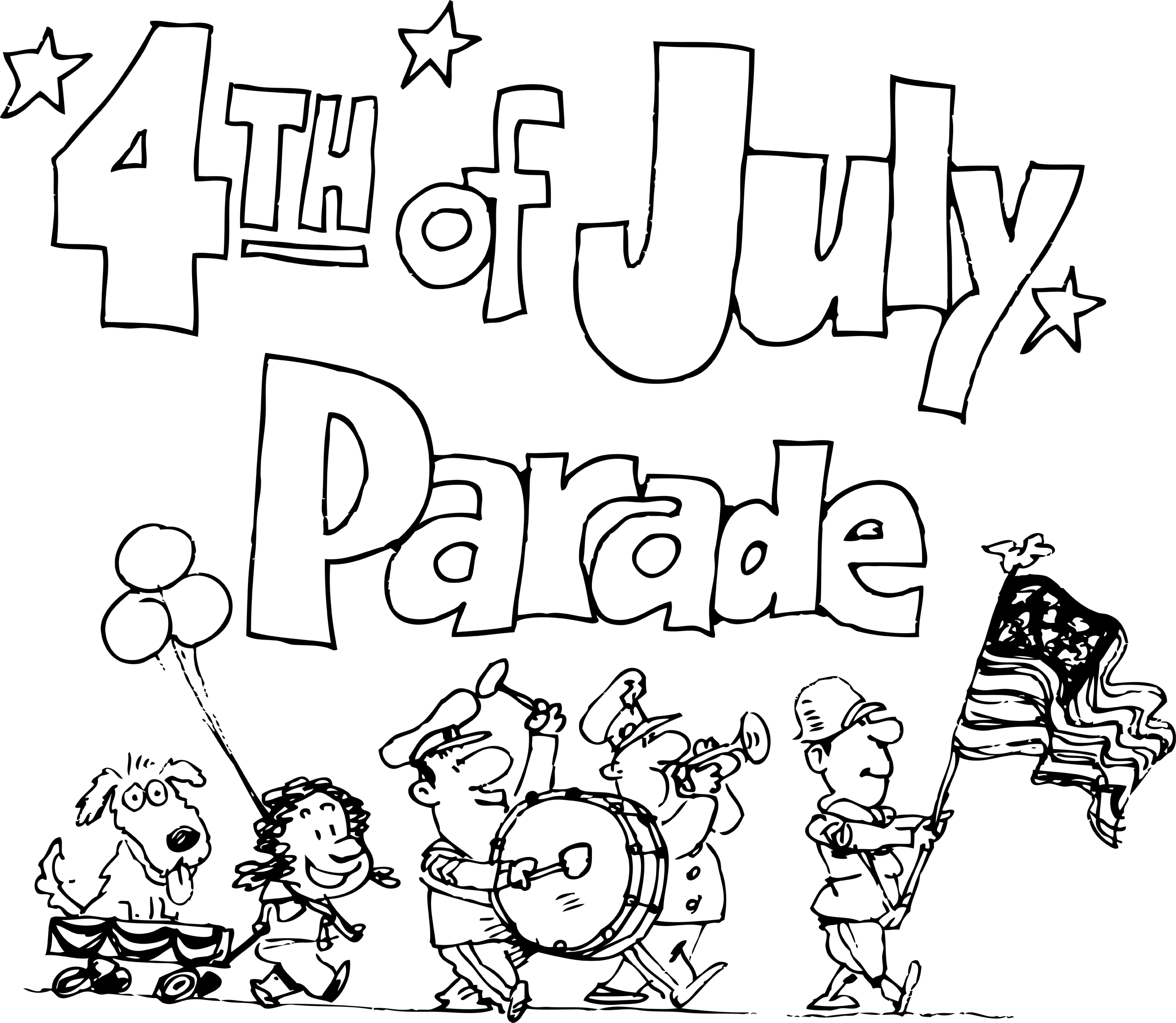 4th Of July Parade Clip Art.