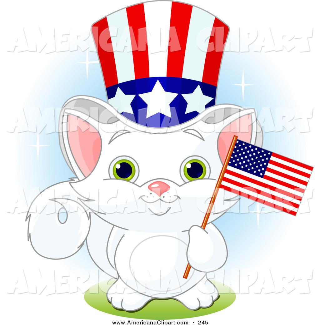Patriotic Animals Clipart.