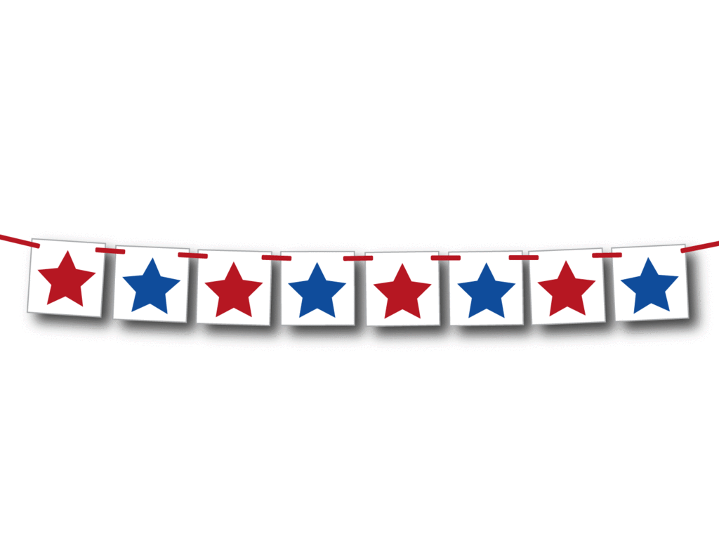 4th of July Star Banner.