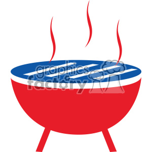 4th of july bbq grill vector icon clipart. Royalty.