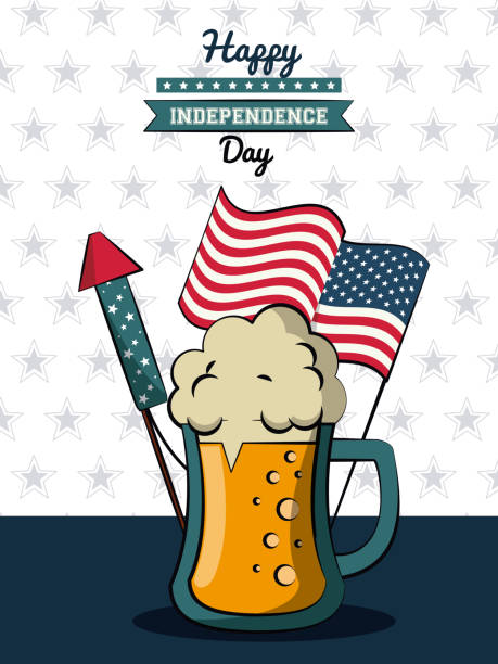 Top 30 July 4th Beer Clip Art, Vector Graphics and.