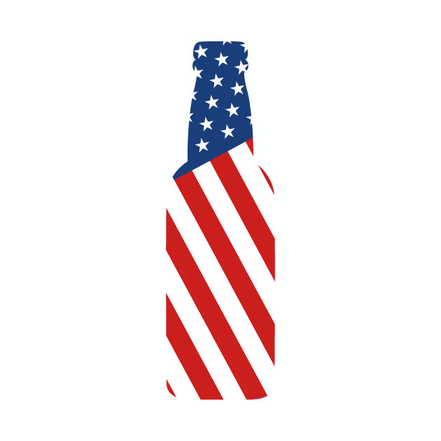4th Of July Independence Day Beer Bottle USA Flag T.