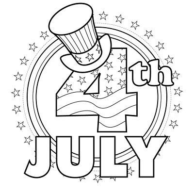 july clip art black and white.