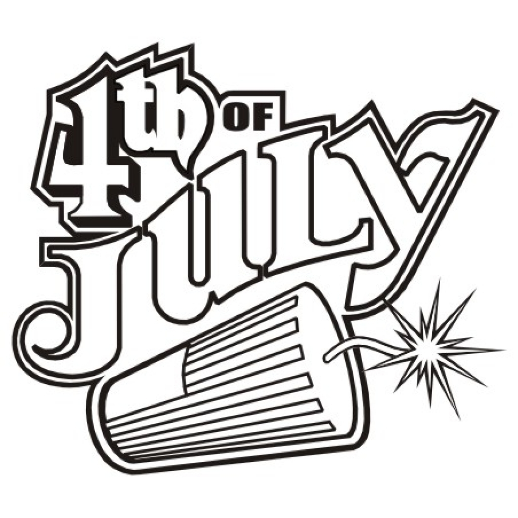 July 4th Clipart Black And White.