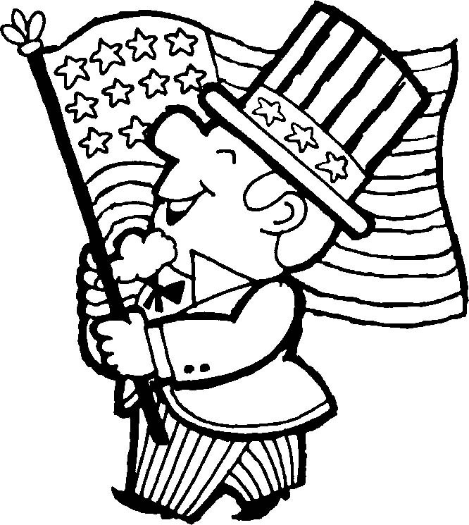 Fourth of july black and white clipart 3 » Clipart Portal.
