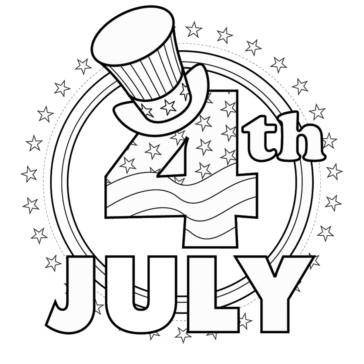 4th of july black and white clipart 5 » Clipart Station.