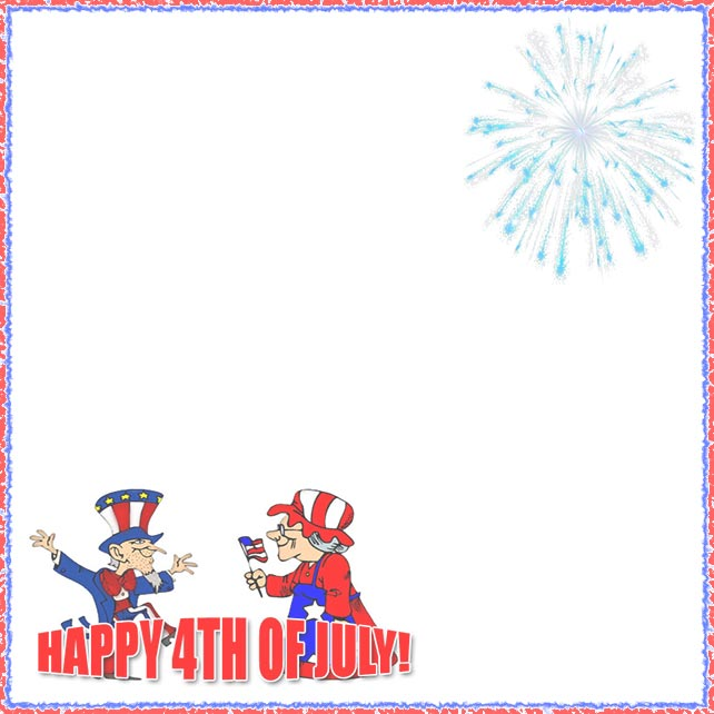 Free 4th of July Borders.