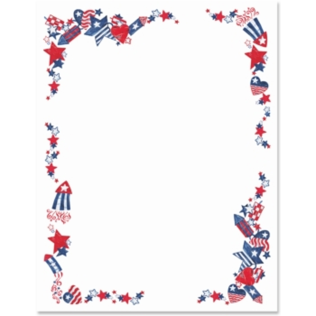 Fourth of july 4th of july free clip art borders.