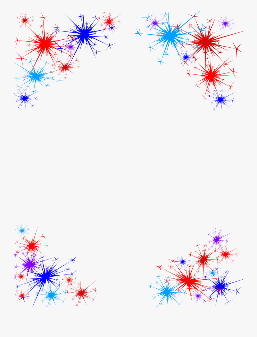 Free Lineart 4th Of July Borders.