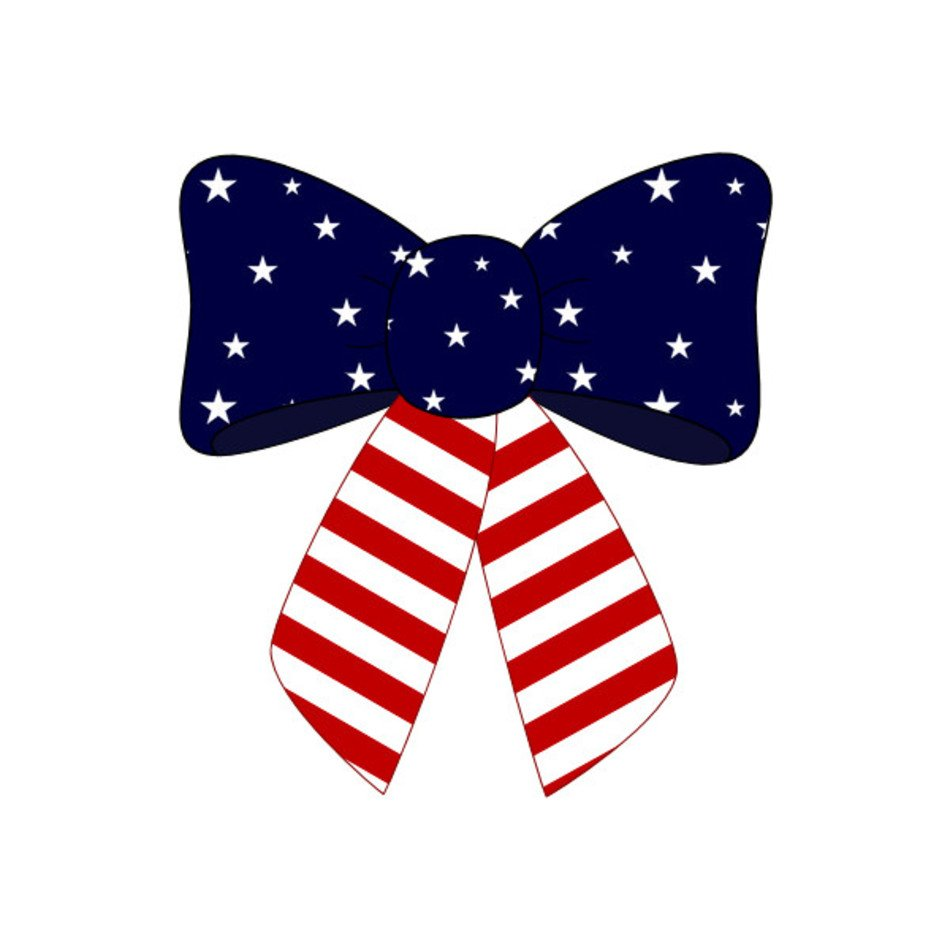 Bow clipart 4th july, Bow 4th july Transparent FREE for.
