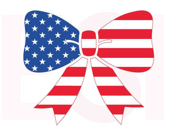 American flag svg, Bow design, 4th of July svg, Memorial day.