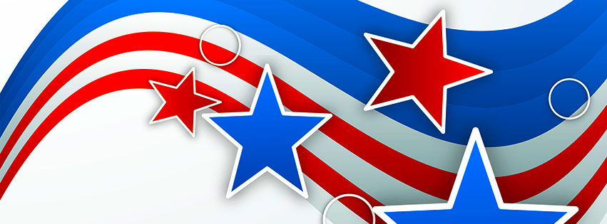 Free 4th of July Facebook Cover Clipart.