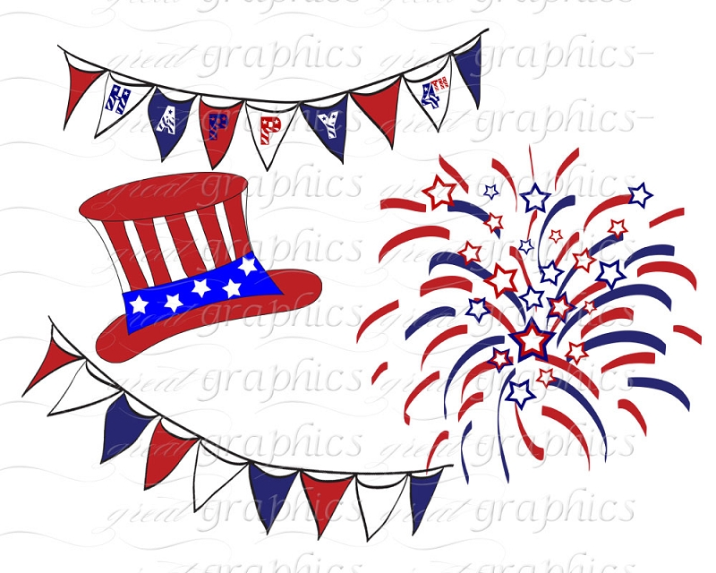 61+ Free Fourth Of July Clipart.