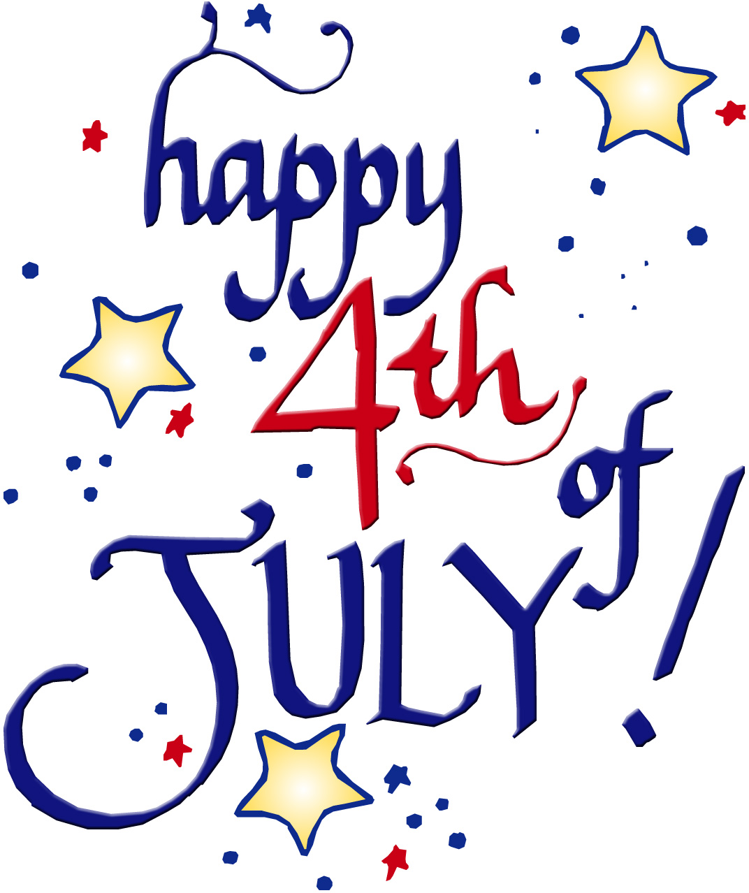 4th Of July Free Clipart.
