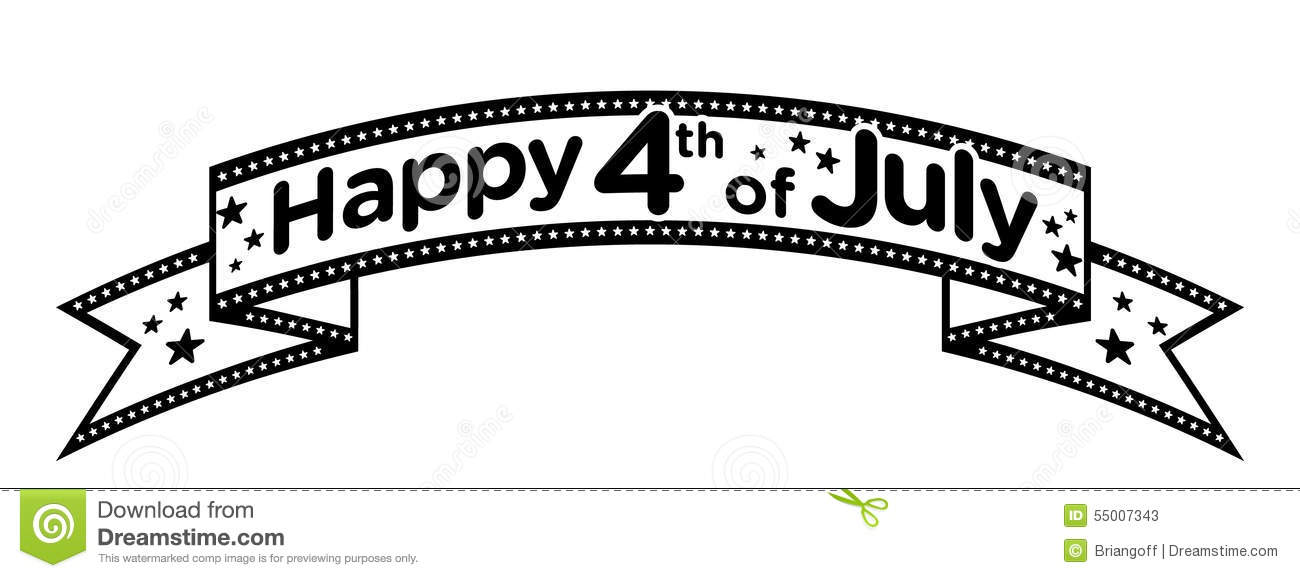 Happy 4th Of July Banner Vector Stock Vector.