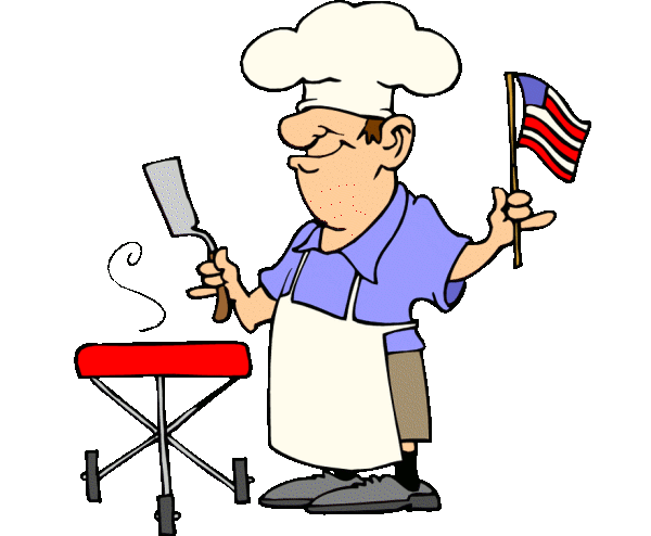 Fourth of july clipart funny patriotic barbecue guy free 4th.