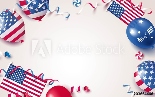 4th of July. USA independence day celebration background.