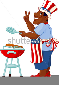 Fourth July Cookout Clipart.