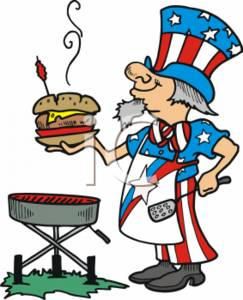 Family Cookout Clipart.